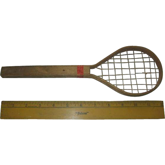 Miniature Tennis Racket Rare Sports Equipment Racket for Teddy or Doll