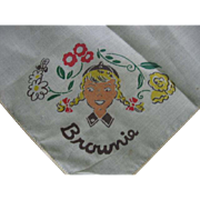Vintage Childs Brownie Hankie
