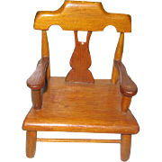 Miniature Plank Bottom Chair