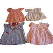 Lot of 4 Vintage Doll Dresses