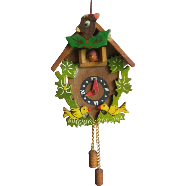 Miniature Cuckoo Clock for Dollhouse