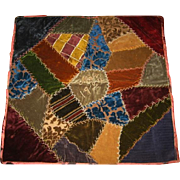 Dated Crazy Quilt Velvet Pillow Top Frame It