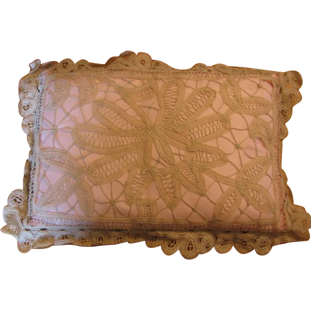 Battenburg Handmade Lace Pillow from Germany