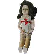 Ball Jointed Kid Body Doll by TTT found in Crepe Paper Dress Needs TLC