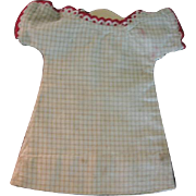 Old Handmade Doll Dress for Small China Head