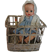 Darling Wicker Miniature Playpen for Doll or Critters