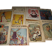 Womans Home Arts and Needlecraft Magazines 1920s and 30s Era