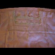 Vintage Silk Nightie with Ecru Lace