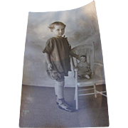 Old Postcard Child with Doll RPPC