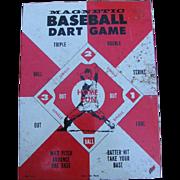 Vintage Metal Baseball Magnetic Dart Board