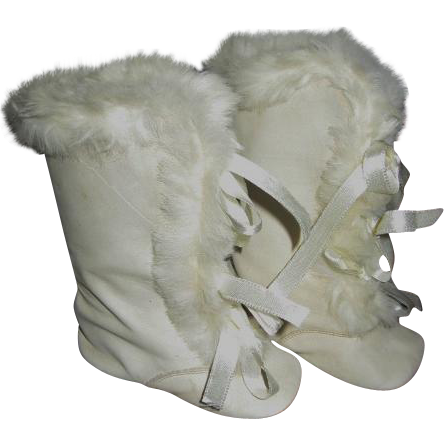 Precious Kid Leather Knee High Baby Boots with Fur Trim Baby Shoes