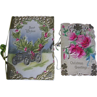 Antique Diecut Embossed Christmas and New Year Cards