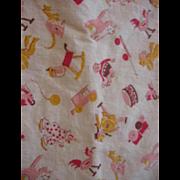 Whimsical Fabric Vintage Crib Mattress Cover