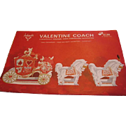 Vintage Valentine Coach with Horses Centerpiece