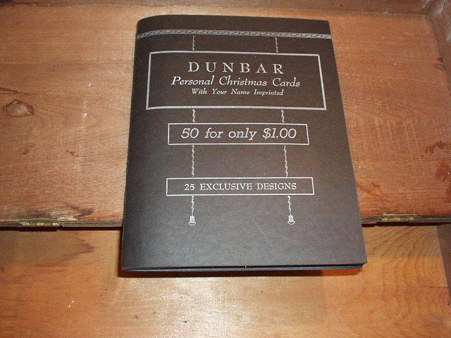 Vintage Salesmans Sample Christmas Cards Catalog W C Dunbar Co