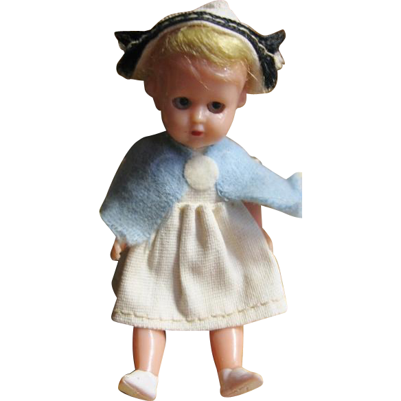 Nurse Doll Made in Italy Dollhouse Jointed Mini Doll