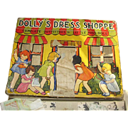 Vintage Childs Toy Sewing Kit Dolly's Dress Shoppe