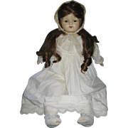 "Large Vintage Mama Baby Doll 27"" Tall Compo and Cloth"