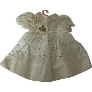 Adorable White Eyelet Doll Dress