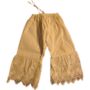 Wonderful Antique Doll Bloomers for German or French Doll