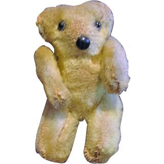 Vintage Miniature Yellow Bear for Doll