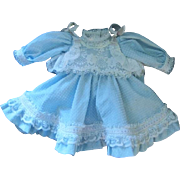 Shaders China Doll Dress and Bonnet Blue Dotted Swiss Beauty
