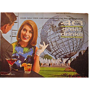Worlds Fair 1964 46 Great Drinks Booklet
