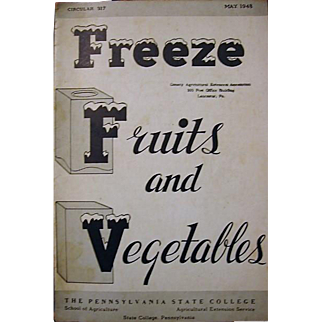 The Pennsylvania State College 1948 Circular on Freezing Foods