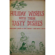 Vintage Holiday Wishes Recipe Book Assembled by PP&L