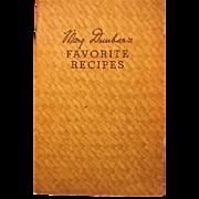 1930s Jewel Tea Mary Dunbars Favorite Recipes Booklet