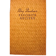 1930s Jewel Tea Mary Dunbars Favorite Recipes Booklet