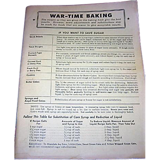 War Time Baking 1940s Recipes and How to Substitute