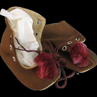 Handmade Baby Shoes from France Vintage World War II Era