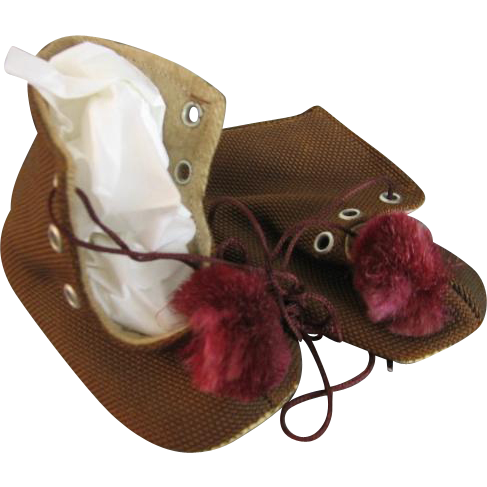 Handmade Baby Shoes from France Vintage World War II Era