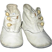 Old White Hightop Baby Shoes