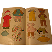 Bear Paper Dolls in Vintage Magazine