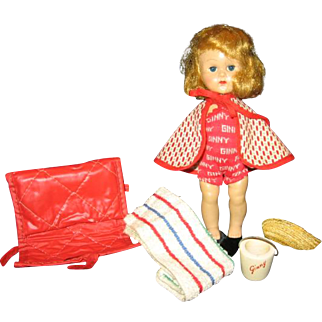 Vintage Ginny Doll Beach Wear and Accessories