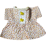 Feed Sack Doll Dress with Bull Dog Button Adornments