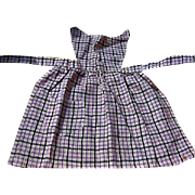 Old Purple and Black Full Sized Doll Apron Home Made in 1930s