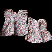 Home Made Doll Dresses for Sister Dolls 1930s era