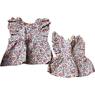 Home Made Doll Dresses for Sister Dolls 1930s era