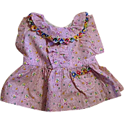 Precious Purple Calico Feed Sack Doll Dress