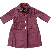 Rose Colored Doll Coat and Bonnet from Yesteryear