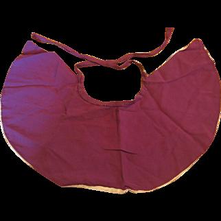 Purple Silk Doll Cape with Cream Colored Lining