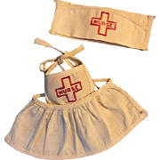 Nurse Apron and Hat for Dolls