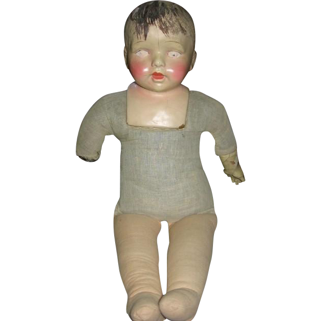 Old Large Composition Doll Needs TLC
