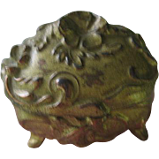 Antique Miniature Jewelry Casket for Antique Doll Display