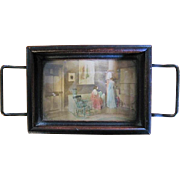 Miniature Tray with Picturial Scene by Fred Thompson