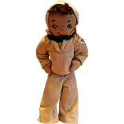 Wonderful Handmade WWII Sailor Boy Cloth Doll