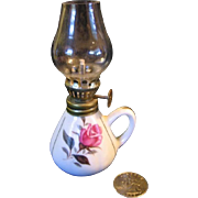 Vintage Working Oil Lamp for Doll Display